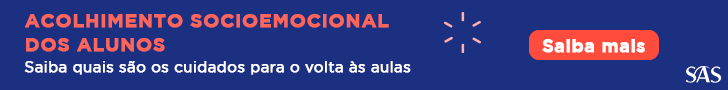 Banner com link para baixar e-book sobre acolhimento socioemocional dos alunos.